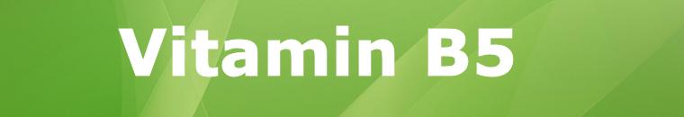 Vitamin B5 Pantothensäure