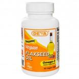 Flaxseed Oil Vegan (90 Vegan Caps) - Deva
