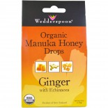 Wedderspoon Organic, Inc., Organic Manuka Honey Drops, Ginger with Echinacea, 4 oz (120 g)