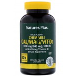 Cal/Mag/Vit D3- Vanilla Flavored (60 Chewable Tablets) - Nature's Plus
