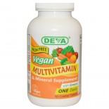 Deva, Multivitamin & Mineral Supplement, Eisen frei, Veganer, 90 Filmtabletten