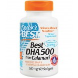 DHA 500 from Calamari 500 mg (60 Softgels) - Doctor's Best