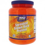 Sprouted Brown Rice Protein - Unflavored (907 gram) - Now Foods