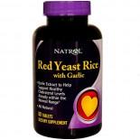 Natrol, Rote Hefe Reis mit Knoblauch, 60 Tabletten