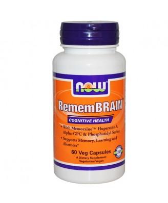 RememBrain (60 Vegetarian Capsules) - Now Foods