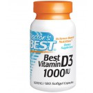 Doctor's Best, Best Vitamin D3, 1000 IU, 180 Softgels