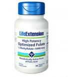 Hohe Wirksamkeit optimiert Folat (L-methylfolat) 5000 Mcg - 30 vegetarische Tabletten - Life Extension