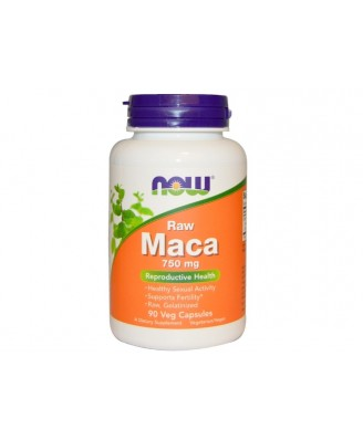Maca Raw 750 mg (90 Veggie Caps) - Now Foods