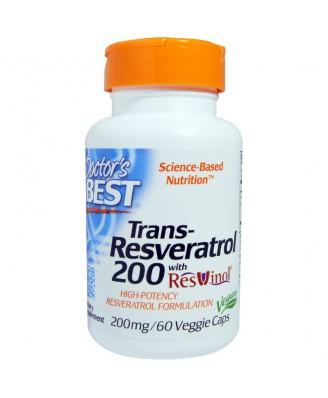 Trans-Resveratrol 200 mg (60 Veggie Caps) - Doctor's Best