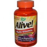 Nature's Way, Alive!, Adult Multi-Vitamin, Fruit Flavors, 90 Gummies