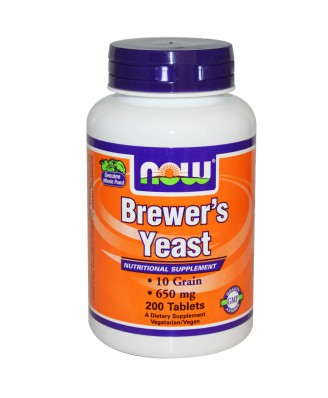 Brewer's Yeast 650 mg (200 Tablets ) - Now Foods