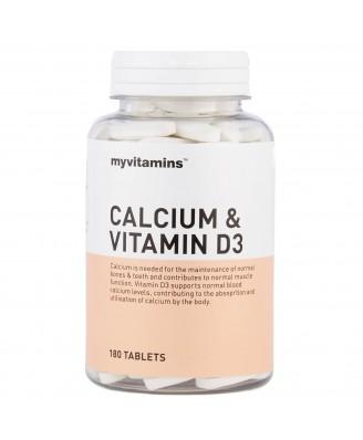 Calcium & Vitamin D3 (60 Tablets) - Myvitamins