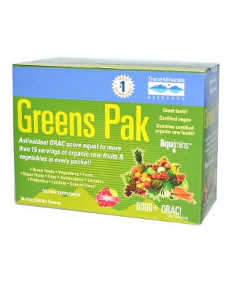 Greens Pak Berry (30 Packets,  7.5 g Each) - Trace Minerals Research