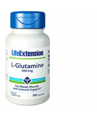 L-Glutamin, 500 Mg, 100 Kapseln - Life Extension