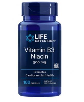 Vitamine B3 niacine 500 Mg - 100 Capsules - Life Extension
