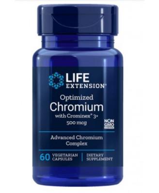 Geoptimaliseerd Chroom Met Crominex 3+ 500 Mcg - 60 Plantaardige Capsules - Life Extension
