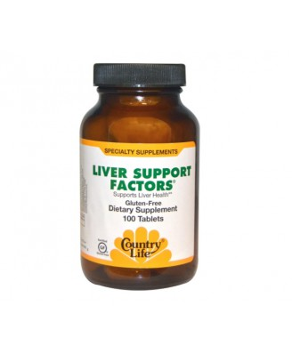Country Life, Liver Support Factors, 100 Tablets