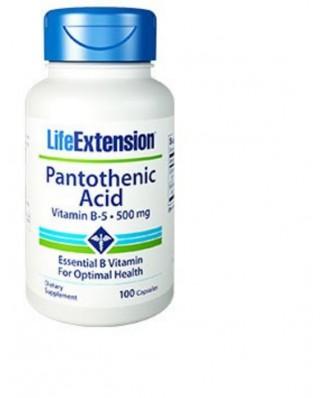Pantothensäure (Vitamin B5)  500 Mg, 100 Kapseln - Life Extension