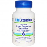 Enhanced Super Digestive Enzymes With Probiotics (60 Veggie Capsules) - Life Extension