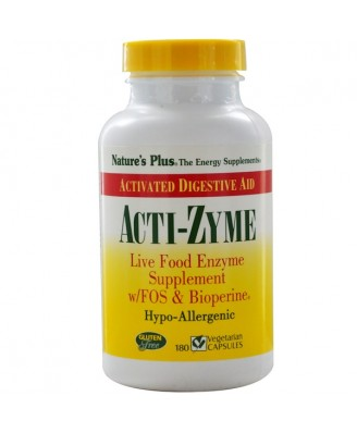 Acti-Zyme (180 Vegetarian Capsules) - Nature's Plus