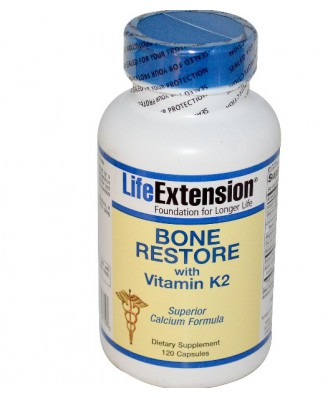 Life Extension, Bone Restore, With Vitamin K2, 120 Capsules