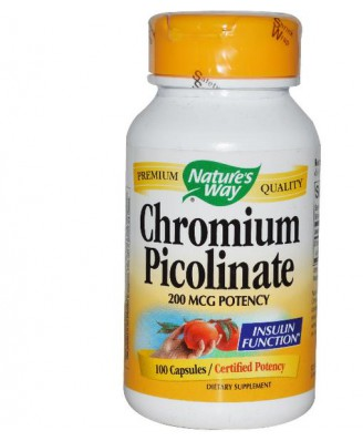 Nature's Way, Chromium Picolinate 200 mcg, 100 Capsules