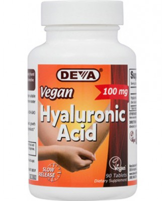 Vegan Hyaluronic Acid 100 mg (90 Tablets) - Deva