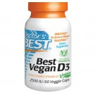 Doctor's Best, Best Vegan D3, Plant Source Vitamin D3, 2500 IU, 60 Veggie Caps