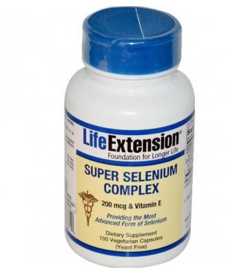 Super Selenium Complex 200 mcg & Vitamin E (100 vegetarian capsules) - Life Extension