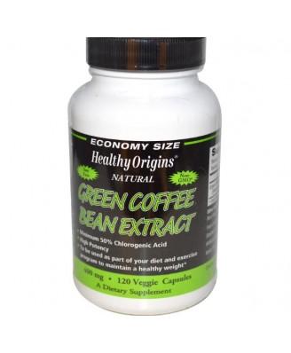 Healthy Origins, grüne Kaffeebohnen Extrakt, 400 mg, 120 Veggie Caps. Niedrigste Preise, Schnelle Lieferung und Webshop Trustmark.