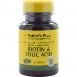 Nature's Plus, Biotin & Folic Acid, 30 Tablets