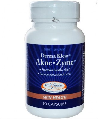 Enzymatic Therapy, Derma Klear Akne Zime, Hautgesundheit, 90 Kapseln