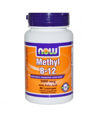 Now Foods, Methyl B-12, 5000 mcg, 60 Lozenges