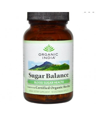 Organic India, Sugar Balance, 90 Veggie Caps