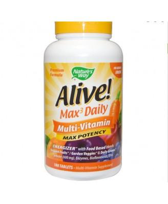 Nature's Way, Alive! Multi-Vitamin, kein Eisen hinzugefügt, 180 Tabletten
