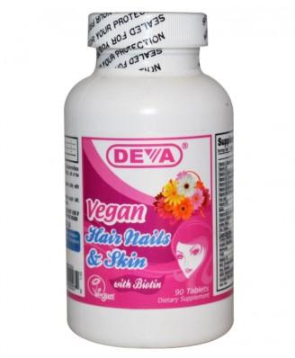 Deva, Hair Nails & Skin, 90 Tablets