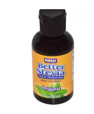 Better Stevia Liquid Sweetener Original (60 ml) - Now Foods