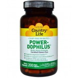Country Life, Gluten Free, Power-Dophilus, Milk-Free, 200 Veggie Caps