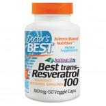 Doctor's Best, Best trans-Resveratrol 100, 100 mg, 60 Veggie Caps