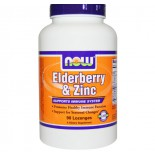Now Foods, Elderberry & Zinc, 90 Lozenges