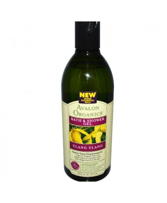 Bad & Douchegel, Ylang Ylang (350 ml) - Avalon Organics
