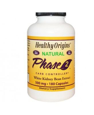 Phase 2 Carb Controller White Kidney Bean Extract 500 mg (180 Veg Capsules) - Healthy Origins