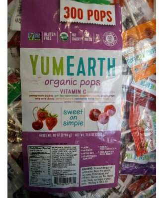Organic Assorted Vitamin C Lollipops, 5 lb (2268 g) - Yummy Earth