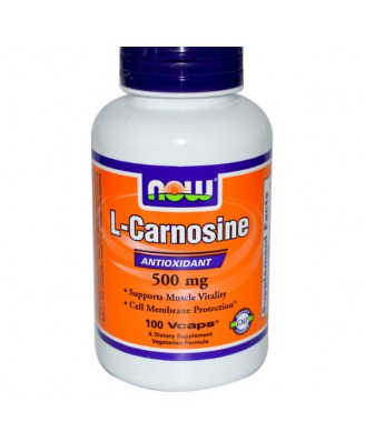 L Carnosine 500 mg (100 veggiecaps) - Now Foods