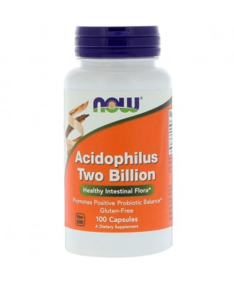Acidophilus Two Billion (100 capsules) - Now Foods