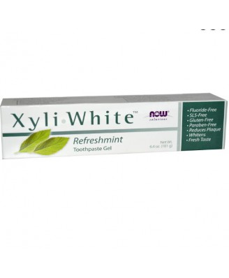 Now Foods Solutions, Xyli-White Toothpaste Gel, Refreshmint (181 g)