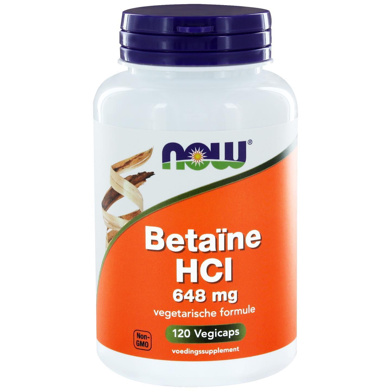 Kaufen Now Foods, Betain HCL 648 Mg, 120 Kapseln