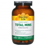 Country Life, Gluten Free, Total Mins, Multi-Mineral Complex with Boron, 120 Tablets