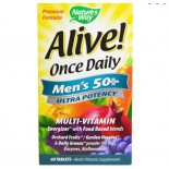 Nature's Way, Alive! Einmal täglich, Herren 50 +, Ultra Potenz, Multi-Vitamin & Whole Food Energizer, 60 Tabletten
