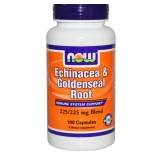 Now Foods, Echinacea & Goldenseal Root, 225/225 mg Blend, 100 Capsules